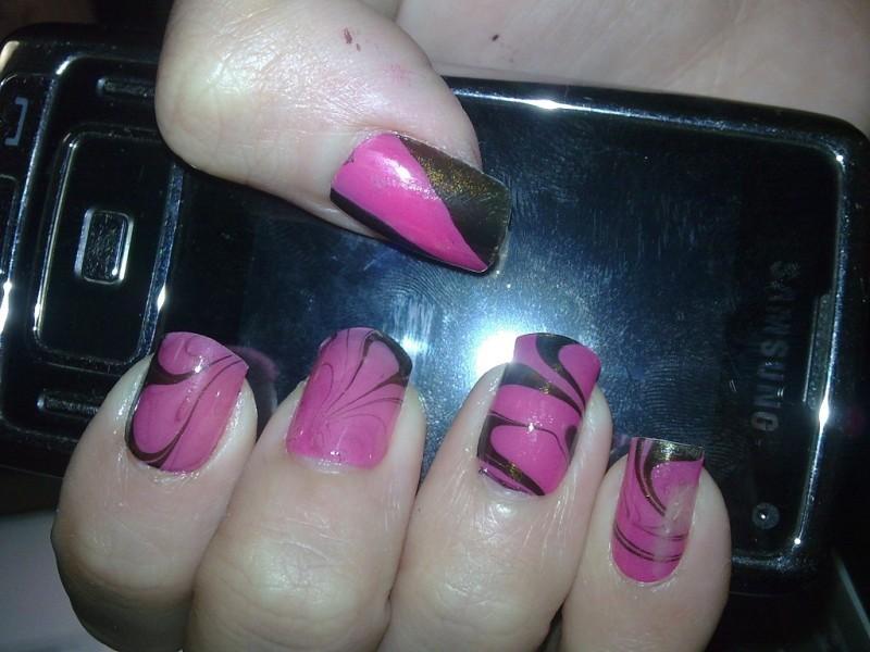 marble nail art-8