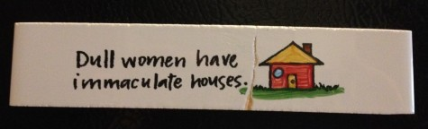 Do Dull Women Have Immaculate Houses?